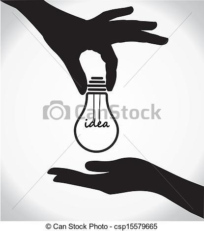 Knowledge clipart bulb Vector Art two light idea