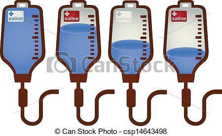 Iiii clipart bottle Iv of bag of Vector