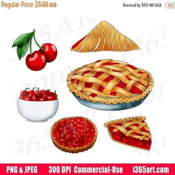 Iiii clipart cherry Wanelo on Etsy Pie Art