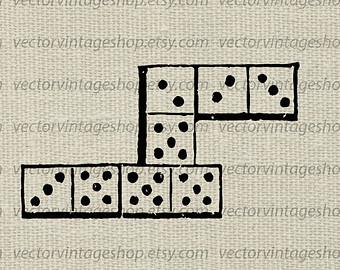 Iiii clipart domino Victorian dominos antique dominos games