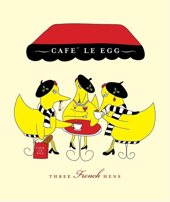 Iiii clipart french hen Three French Iced French Hens