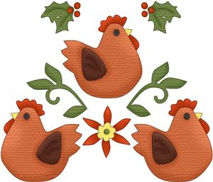 Iiii clipart french hen Online images Three Pinterest best