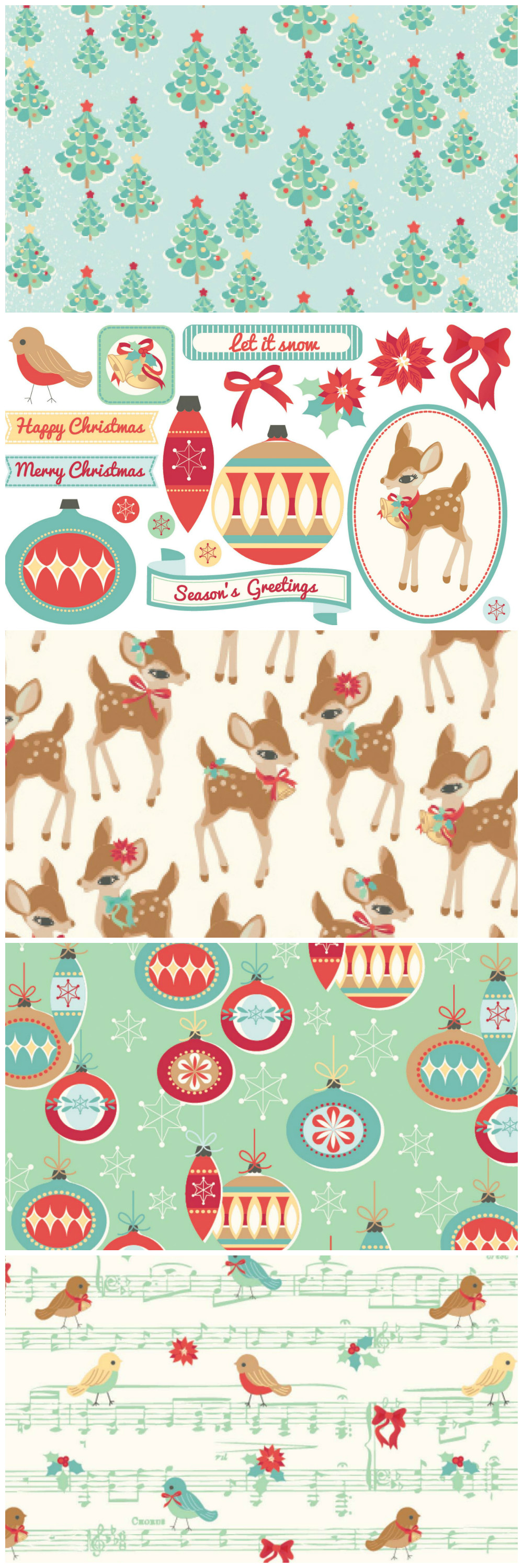 Iiii clipart hole punch Our Christmas retro Christmas cards