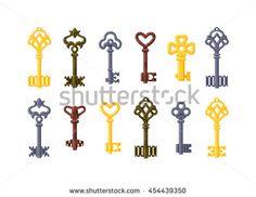 Iiii clipart key Illustration Vintage gold keys vintage