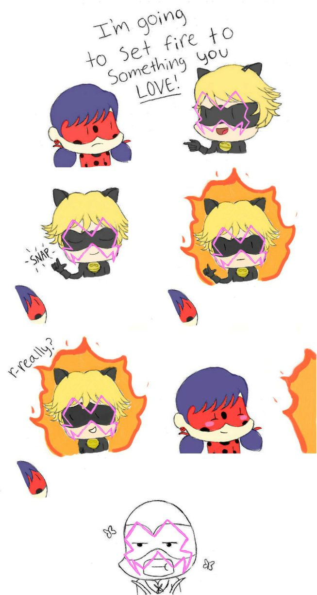 Iiii clipart ladybug Ladybug Adrien/Chat on Miraculous fire