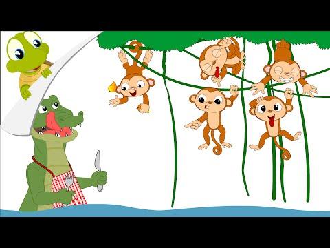 Iiii clipart little monkey  Nursery Little Five monkeys