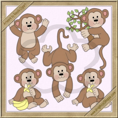 Iiii clipart little monkey $1 Graphics Clip Little Clip