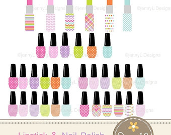 Iiii clipart nail Lipstick OFF 50% Etsy and