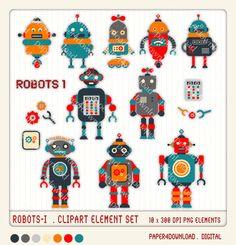 Iiii clipart robot Art by Robots Digital Robot