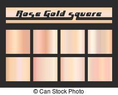 Iiii clipart rose Gold Metallic Clipart square 3