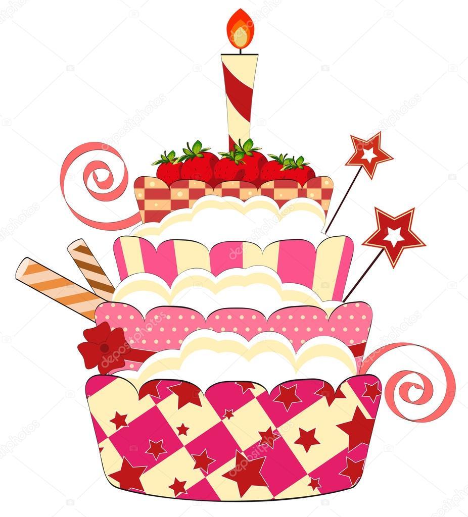 Iiii clipart strawberry Cake Graphics graphic Birthday Art
