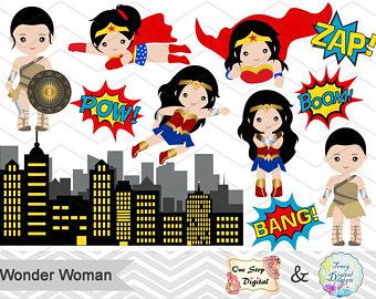Iiii clipart superhero Superhero Wonder Pop Digital Art