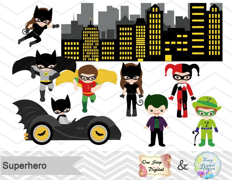 Iiii clipart superhero Superhero Clipart Superhero Girls Instant