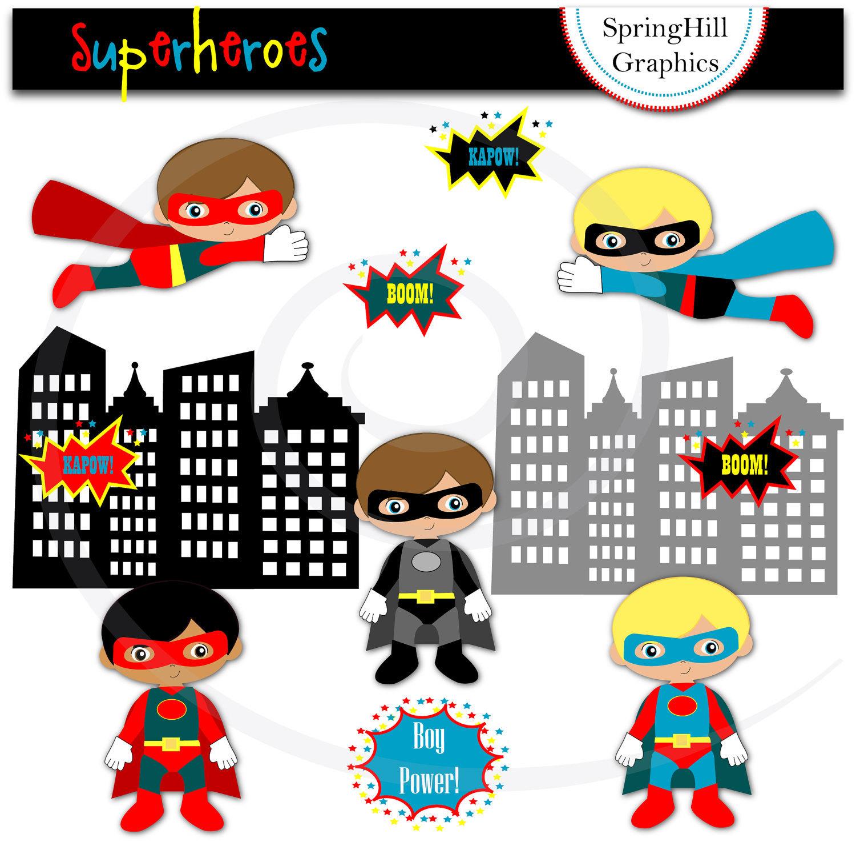Iiii clipart superhero And Clip Superheroes Superheroes Digital