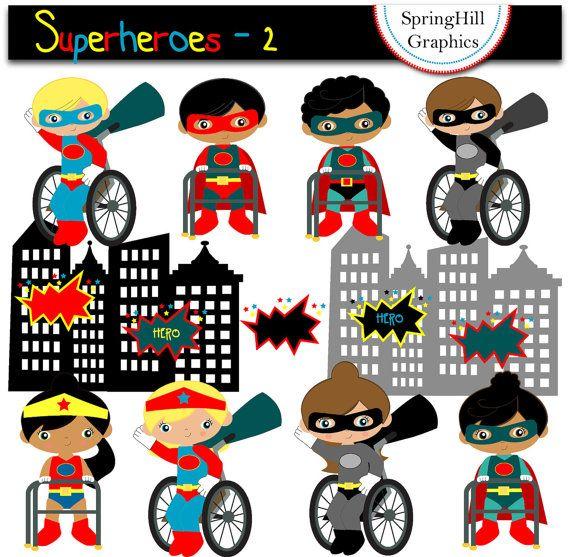 Iiii clipart superhero Making Superheroes Scrapbooking Instant 14