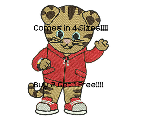 Iiii clipart tigers Embroidery Pattern Daniel Embroidery