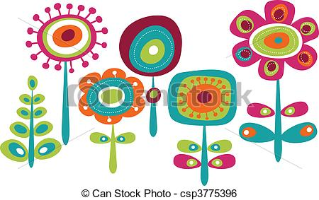 Artwork clipart colorful Colorful of flowers Art Cute