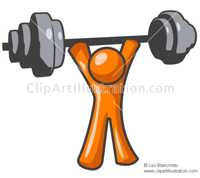 Illustration clipart Orange Vector Leo and Exercising