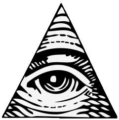 Drawn pyramid all seeing eye Clipart Illuminati drawings clipart #6