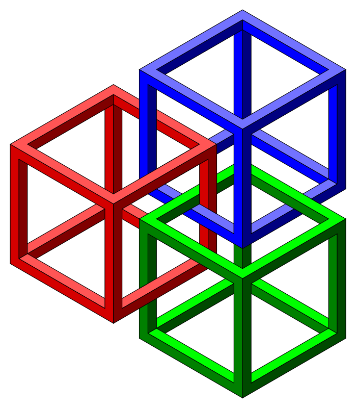 Optical Illusion clipart cube Clipart #5 Download Illusion drawings