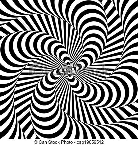 Illusion clipart Abstract monochrome of backdrop