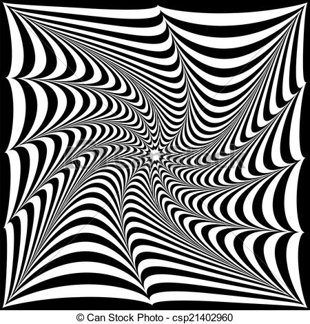 Drawn optical illusion black and white And of a white Art