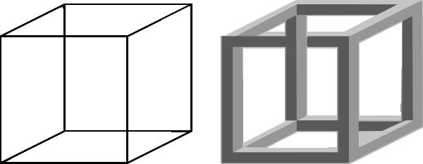 Illusion clipart 3d box Clip com at Cube Clker