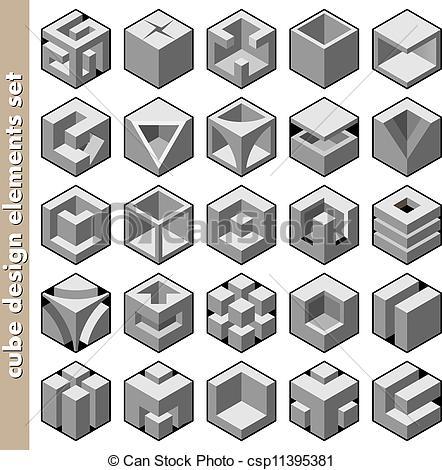 Illusion clipart 3d cubes Design free cube illustration royalty