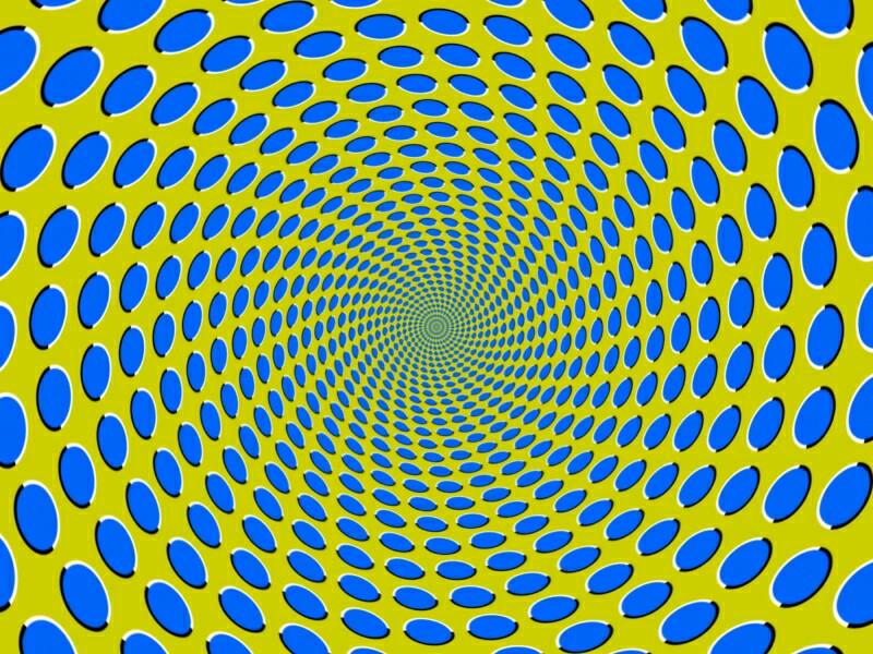Optical Illusion clipart apparent motion #3