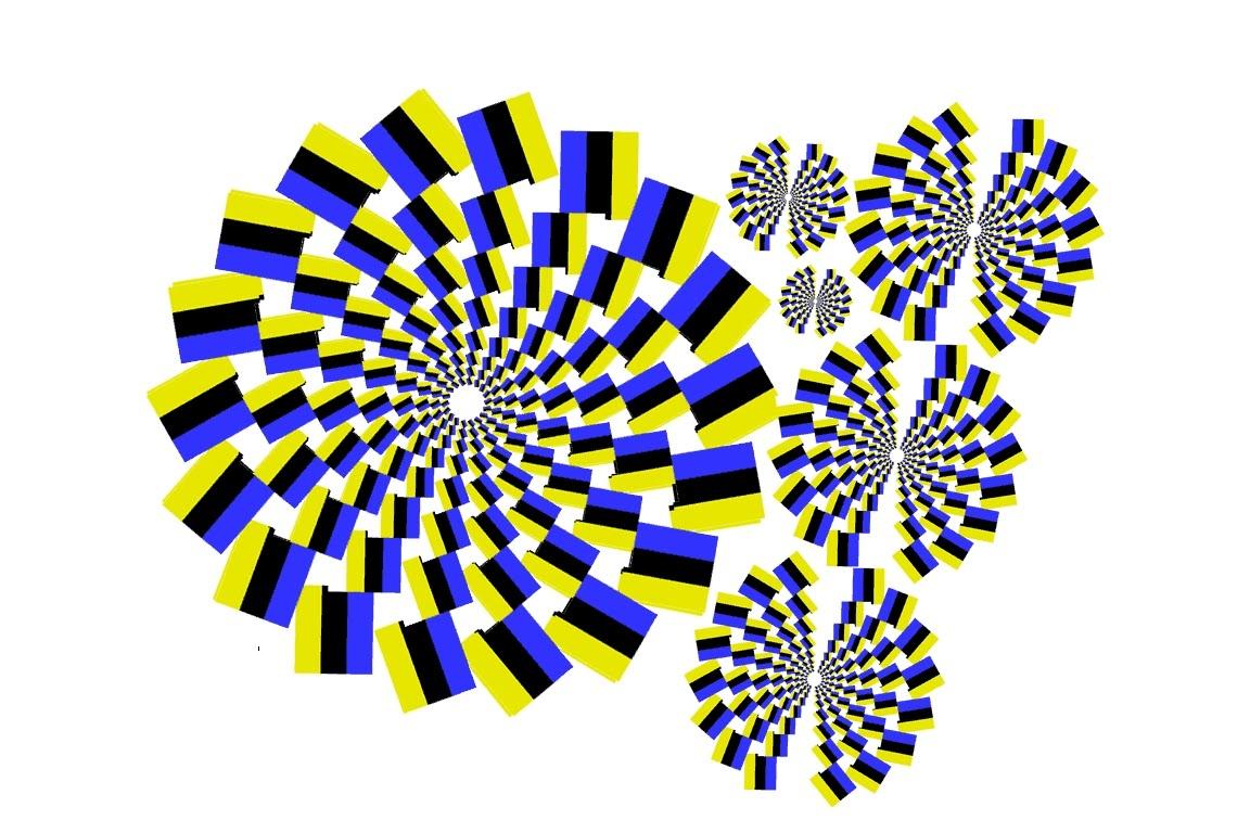 Optical Illusion clipart apparent motion #2