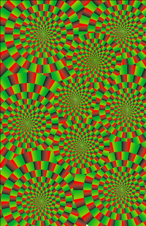 Optical Illusion clipart apparent motion #9