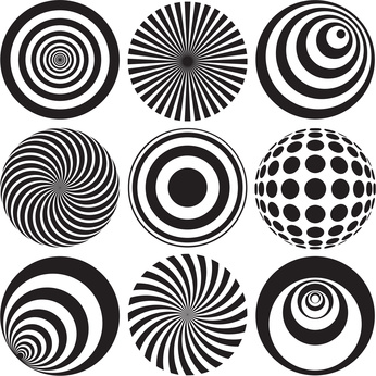 Optical Illusion clipart family #1