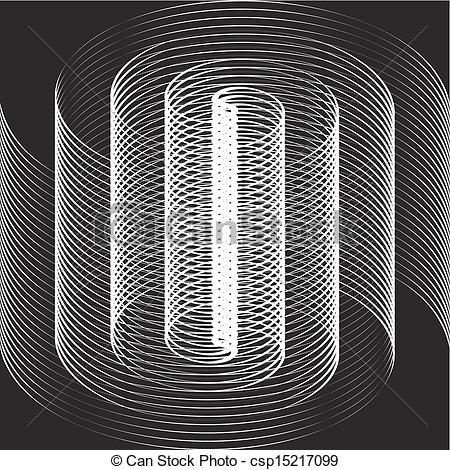 Illusion clipart art black and white White A black optical black