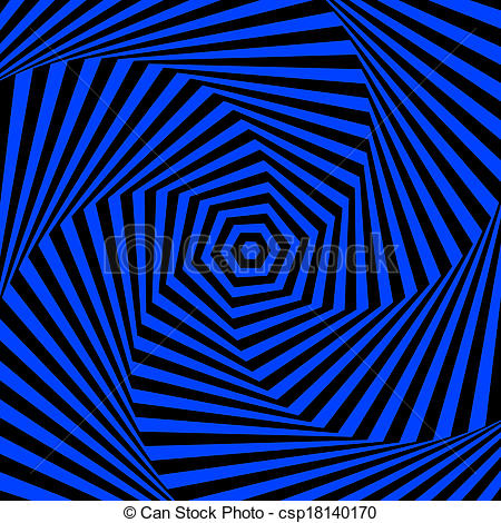 Illusion clipart background  Stock of Blue csp18140170