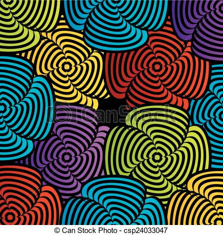 Illusion clipart colorful Illusion EPS Colorful illusion optical
