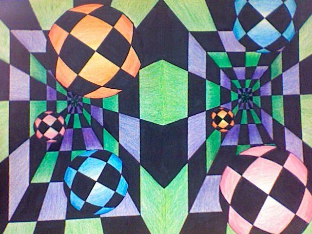 Optical Illusion clipart graphic design #10