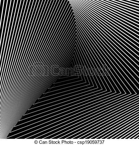 Illusion clipart distortion Illusion geometric backdrop monochrome movement
