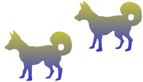 Illusion clipart dog Optical dogs Color More illusion