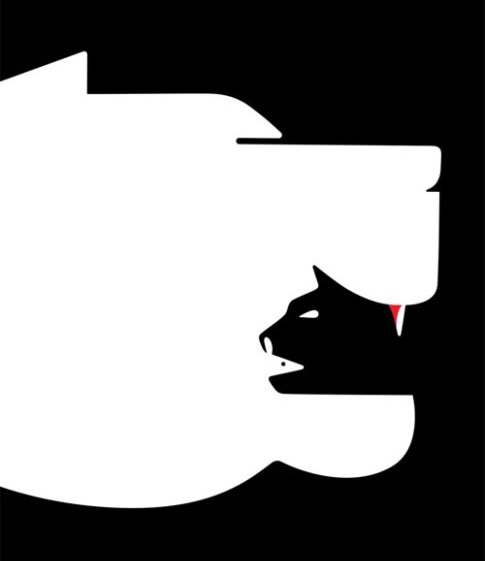 Optical Illusion clipart dog  Illusion Optical Chain Food