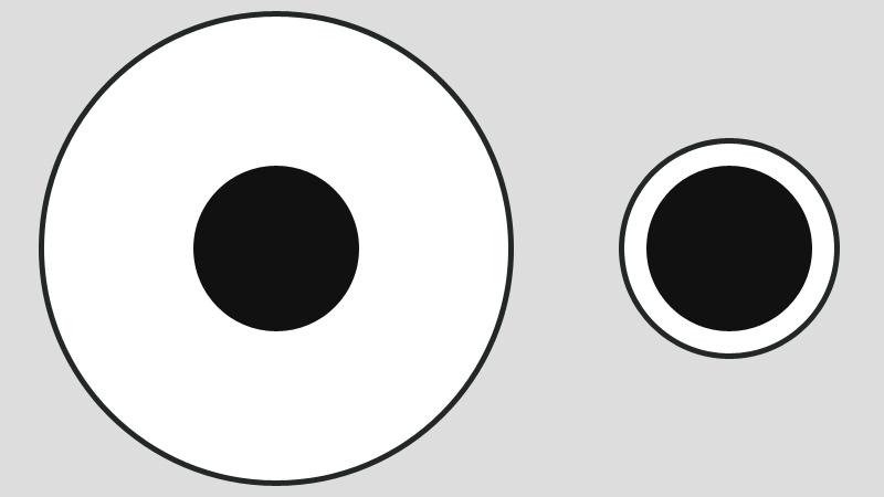Illusion clipart easy Smaller Delboeuf Ways ways weight: