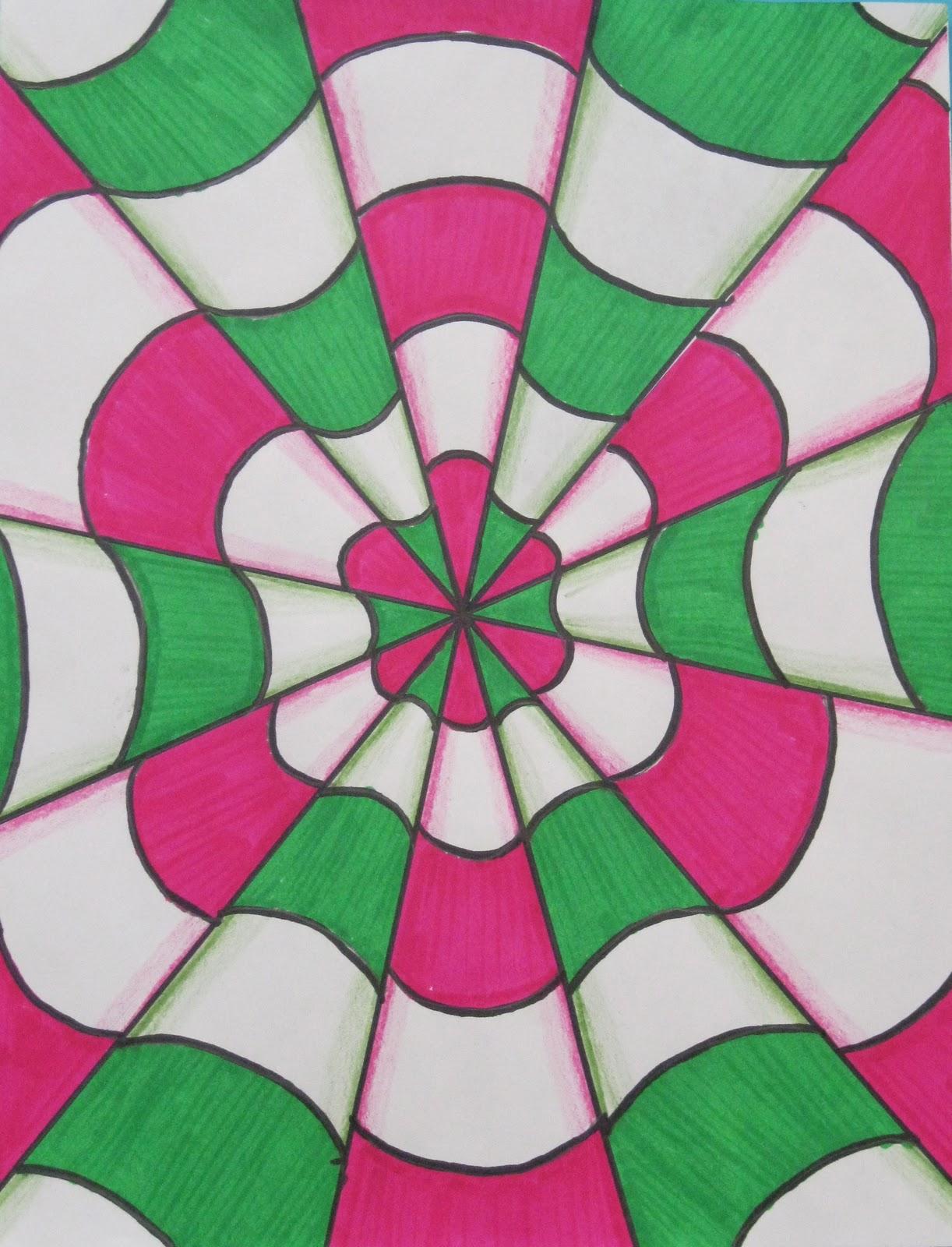 Illusion clipart easy Class ideas Optical Art Illusion