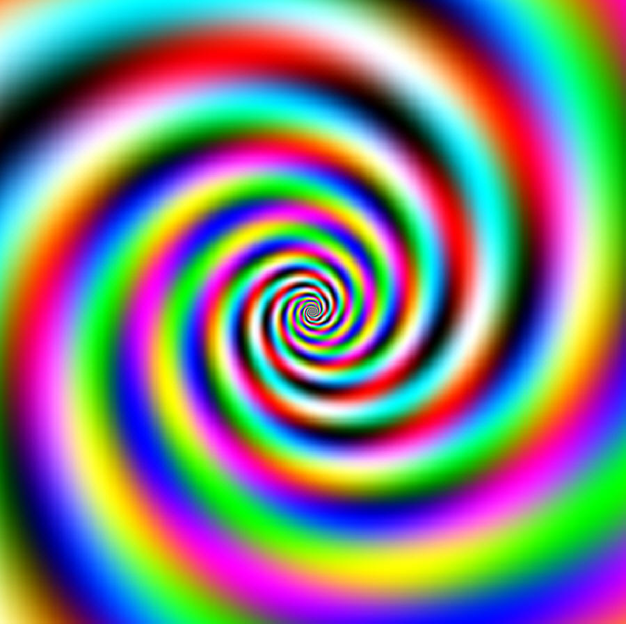 Illusion clipart eye Straight  Feathered spiral illusion