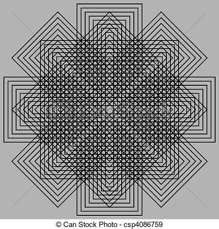 Optical Illusion clipart graphic design #11