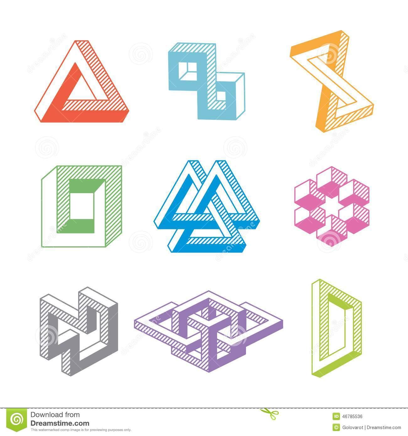Illusion clipart geometric shape Impossible esque Search  figure