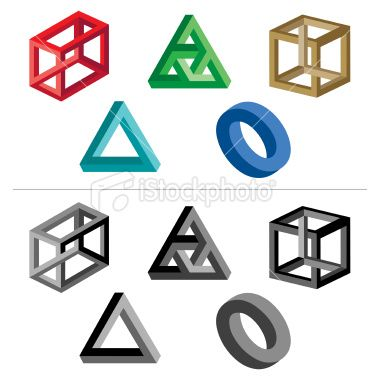 Illusion clipart geometric shape Impossible  geometric impossible shapes