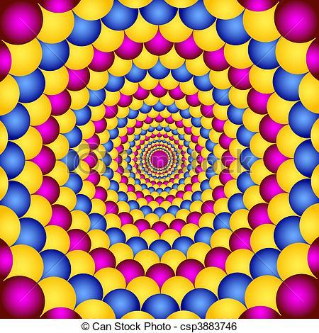 Illusion clipart geometric shape Optic geometric illusion Vector Optic