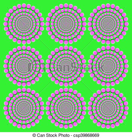 Illusion clipart graphic Blooming Art Vector pink wheels