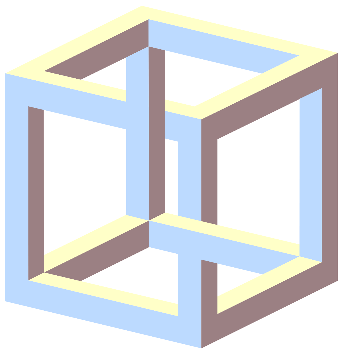 Illusion clipart impossible  cube Impossible Wikipedia