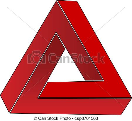 Illusion clipart impossible Impossible csp8701563 csp8701563 triangle triangle;