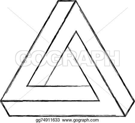 Illusion clipart line Optical triangle Stock triangle illusion